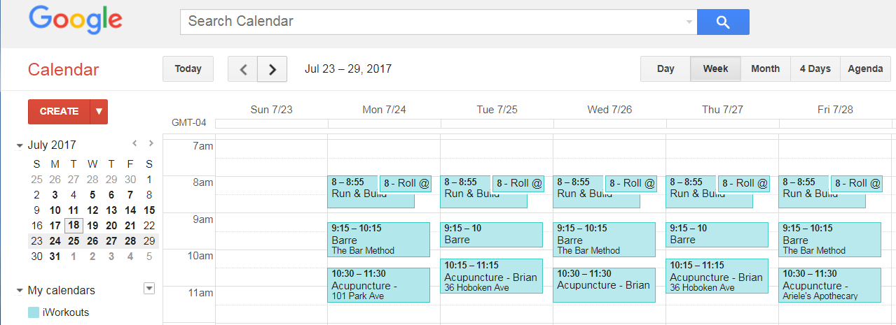 Hi There The Events Scheduled On My Google Calendar Show